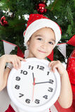 Lovely little girl at Christmas time Royalty Free Stock Photos