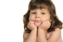 The lovely little girl close up Stock Images