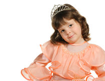 The lovely little girl close up Royalty Free Stock Photo