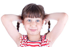 lovely little girl with fanny face Stock Photography