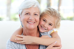Lovely little girl with her grandmother Royalty Free Stock Image