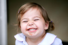 Lovely little girl making funny face Royalty Free Stock Images