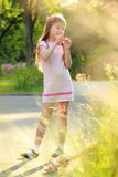 Lovely little girl outdoor Royalty Free Stock Photography