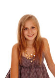 Lovely little girl in a portrait image. Royalty Free Stock Photos