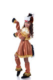 Lovely little girl posing in horse costume Royalty Free Stock Photo
