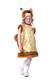 Lovely little girl posing in squirrel suit Royalty Free Stock Image