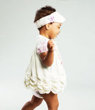 Lovely little girl is running Royalty Free Stock Photos