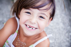 Lovely little girl smilling Royalty Free Stock Images