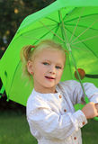 Lovely little girl with umbrella Royalty Free Stock Photo