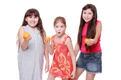 Lovely little girls Royalty Free Stock Photography