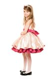 Lovely little lady in a dress Royalty Free Stock Photos