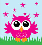 A lovely little pink owl Royalty Free Stock Photos