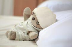 The  lovely little teddy bear Stock Images