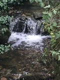 Lovely little waterfall at Creswell stock photo
