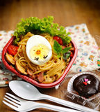 Lovely Lunch Box (spaghetti) Royalty Free Stock Image