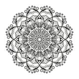Lovely mandala for adult coloring books Stock Photos
