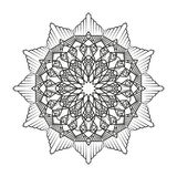 Lovely mandala for adult coloring books Royalty Free Stock Photography
