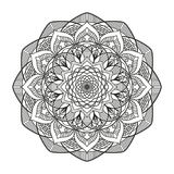 Lovely mandala for adult coloring books Royalty Free Stock Image