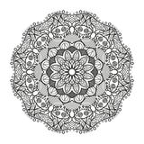 Lovely mandala for adult coloring books Royalty Free Stock Photo