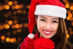 Lovely x-mas girl Royalty Free Stock Photo