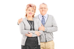 Lovely mature couple posing Stock Photos
