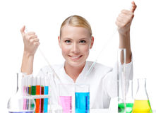 Lovely medical female researcher Royalty Free Stock Image