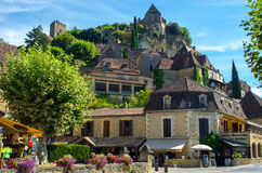 Lovely medieval village of Beynac, Dordogne, France Stock Photos