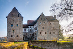 Lovely medieval water castle Brennhausen Royalty Free Stock Image
