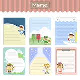 Lovely memos set Royalty Free Stock Photo