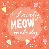 Lovely meow melody. Royalty Free Stock Photo