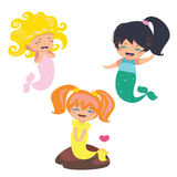 Lovely Mermaids characters Royalty Free Stock Photo