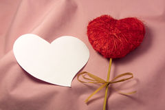 Lovely Message. Red and white heart for love valentines day message Royalty Free Stock Image