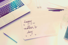 Lovely message on Mothers Day Royalty Free Stock Image