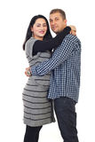 Lovely mid adult couple embrace stock images