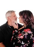 Lovely middle age couple in closeup Stock Images