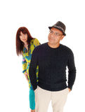 Lovely middle age couple standing. Royalty Free Stock Photos