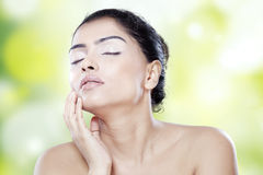 Lovely model with fresh skin Royalty Free Stock Photo