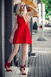 Lovely model in posing outside Royalty Free Stock Photo