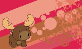 Lovely moose baby cartoon background Stock Image