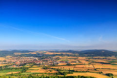 Lovely Morning view on Staffelstein. Countryside View in the morning from the Staffelberg in Oberfranken in northern Bavaria, Germany Stock Images