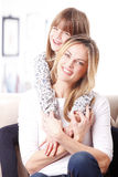 Lovely mother and daughter Stock Photo