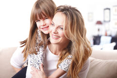 Lovely mother and daughter Royalty Free Stock Photo