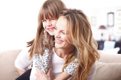 Lovely mother and daughter Stock Photography