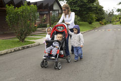 Lovely Mother with Her Children Royalty Free Stock Photography