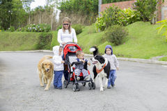 Lovely Mother with Her Children Stock Images