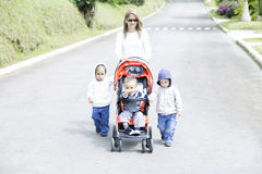 Lovely Mother with Her Children Royalty Free Stock Images