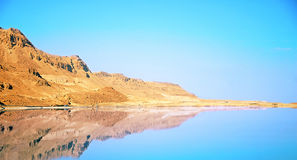 Lovely mountain scenery. Dead Sea landscape pretty clean in the summer day Stock Photography