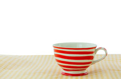 Lovely mug with red line Royalty Free Stock Photos