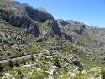 Lovely nature on the way to Sa Calobra, Mallorca Royalty Free Stock Photo