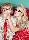 Lovely nerds stock image